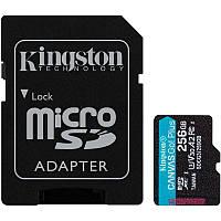 Карта памяти Kingston microSDXC 256Gb Canvas Go Plus UHS-1 U3 (R-170 Mb/s, W-90 Mb/s) + Adapter SD, фото 1