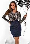 """Коктейльное платье MasModa """"Лео"""" полуприлегающее мини (5 цветов, р.S-XL), фото 5"""