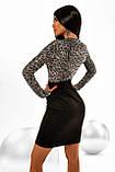 """Коктейльное платье MasModa """"Лео"""" полуприлегающее мини (5 цветов, р.S-XL), фото 8"""