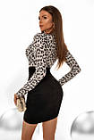 """Коктейльное платье MasModa """"Лео"""" полуприлегающее мини (5 цветов, р.S-XL), фото 10"""