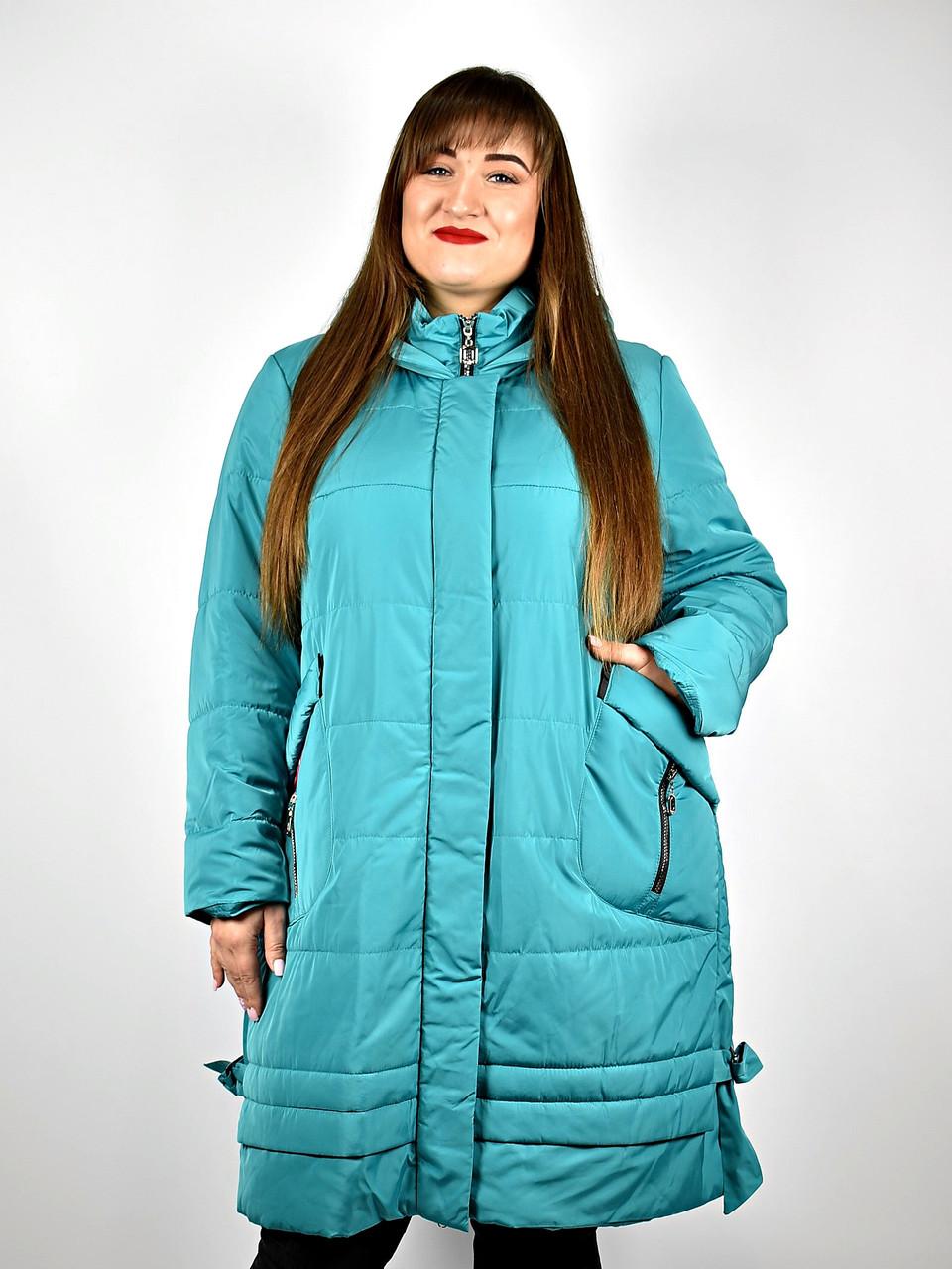 Куртка жіноча демісезонна від 54 до 64 великі розміри