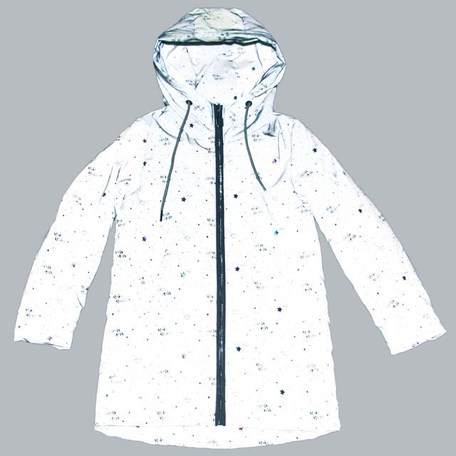 світловідбиваюча куртка для дівчинки