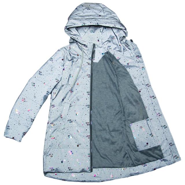 світловідбиваюча куртка для дівчинки сіра