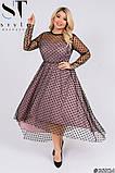 Трикотажное женское платье большого размера Размеры: 52,54,56,58, фото 7