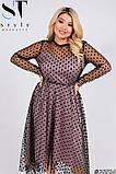 Трикотажное женское платье большого размера Размеры: 52,54,56,58, фото 5