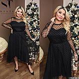 Трикотажное женское платье большого размера Размеры: 52,54,56,58, фото 6