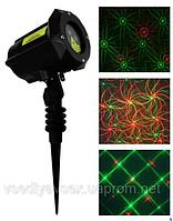 Уличный лазерный проектор Star Shower RD-7187 светодиодный с узорами для шоу вечеринок к зимним праздникам.