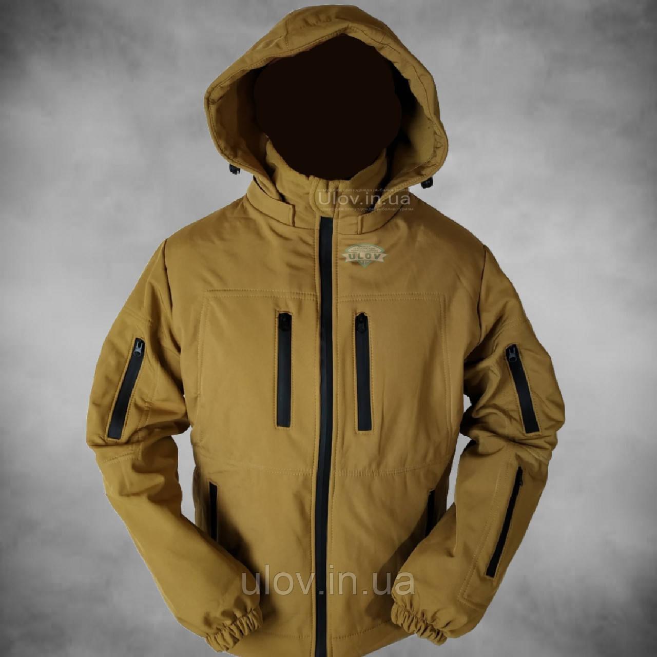 Куртка демісезонна штормова Soft Shell (койот)