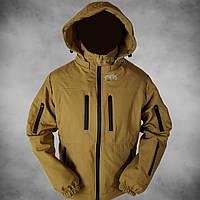 Куртка демісезонна штормова Soft Shell (койот), фото 1