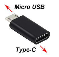 """Адаптер переходник OTG Type-C на MicroUSB """"UGL"""" для тепловизоров SEEK, FLIR"""