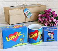 Набор Love is....(Лав Из...)  Жвачки, Чашка и Шоколадный набор
