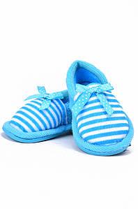 Детские тапочки голубые AAA 128168P