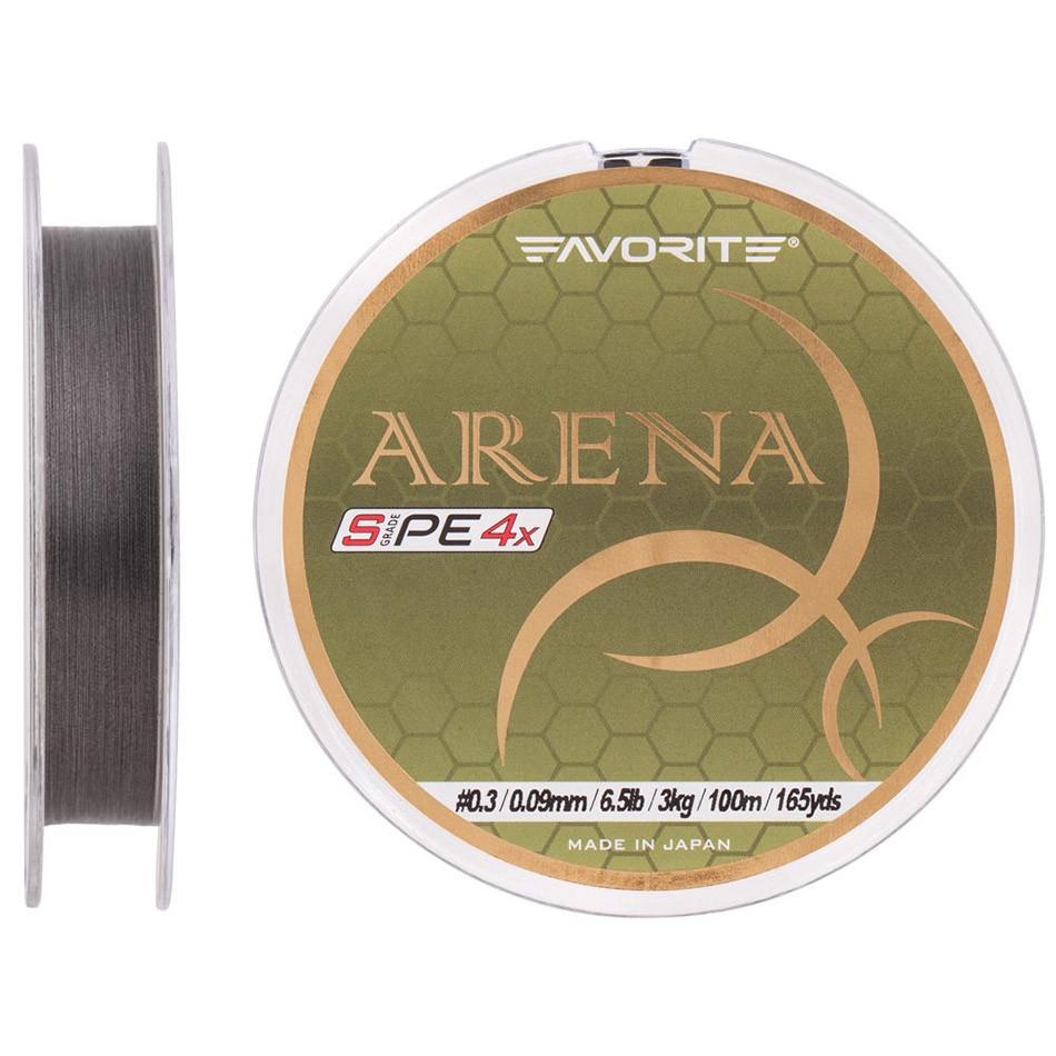 Шнур Favorite Arena PE 100m (silver gray) #0.175/0.071mm 3.5lb/1.4kg