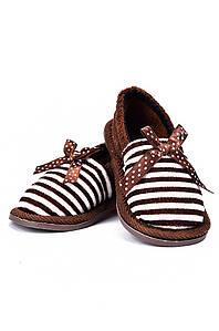 Детские тапочки коричневые AAA 128165P