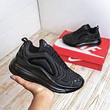 Кроссовки  Nike Air Max 720 черные c белым  кеды 41-45р, фото 4