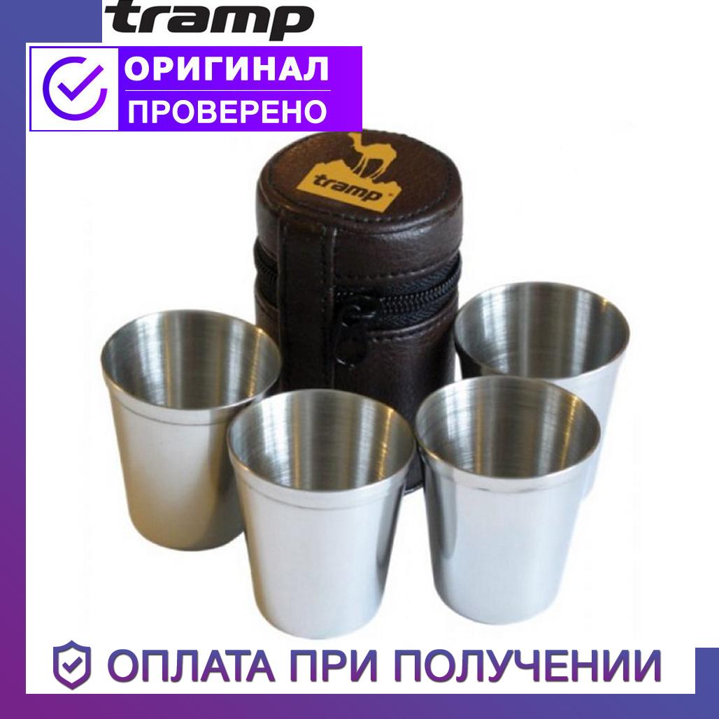 Набор Tramp из нержавеющей стали Трэмп 4 стопки 25 мл TRC-022