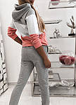 Женский спортивный костюм, турецкая двунить, р-р 42-44; 44-46 (серый), фото 2