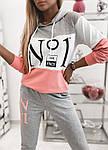 Женский спортивный костюм, турецкая двунить, р-р 42-44; 44-46 (серый), фото 3