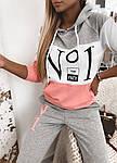 Женский спортивный костюм, турецкая двунить, р-р 42-44; 44-46 (серый), фото 5