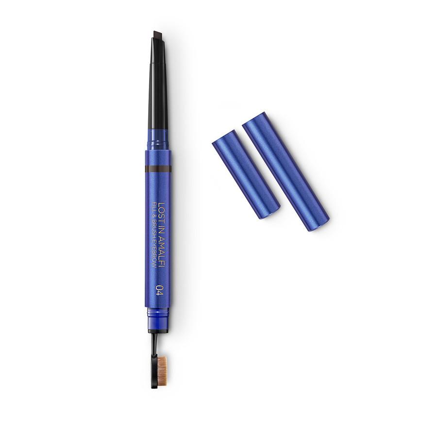 Автоматический карандаш для бровей 2-в-1 LOST IN AMALFI FILL & BRUSH EYEBROW 04 Raven