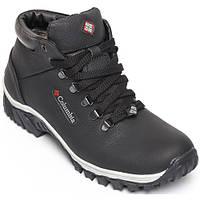 """Ботинки """"Columbia"""" мужские зимние натуральная кожа черные"""