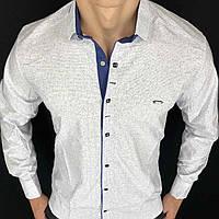 Сорочка чоловіча з довгим рукавом S,M,L,XL,XXLТуреччина. Молодіжна турецька сорочка трансформер. Білий
