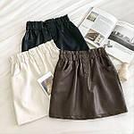 Жіноча спідниця, екошкіра, р-р 42-44; 44-46 (чорний), фото 2