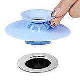 Фильтр заглушка для раковины Пробка для ванны силиконовая, фото 6