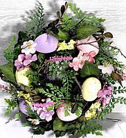Пасхальное украшение Веночек декоративный 25 см, фото 1