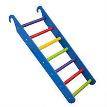 Лестница детская цветная для шведской стенки, спортуголка SportBaby