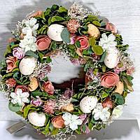 Декоративный венок 32 см пасхальное украшение, фото 1