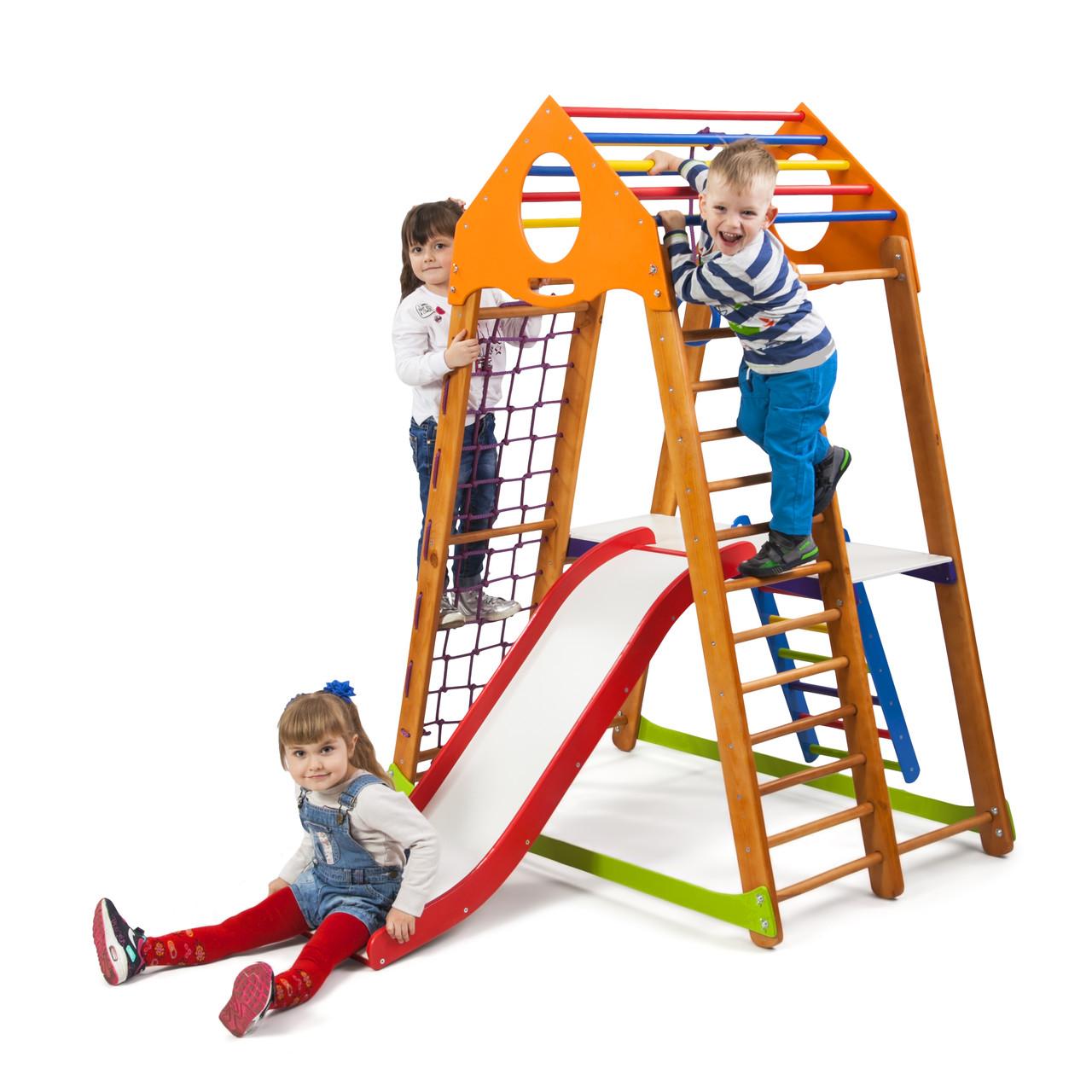 SportBaby Детский спортивный комплекс BambinoWood Plus 2