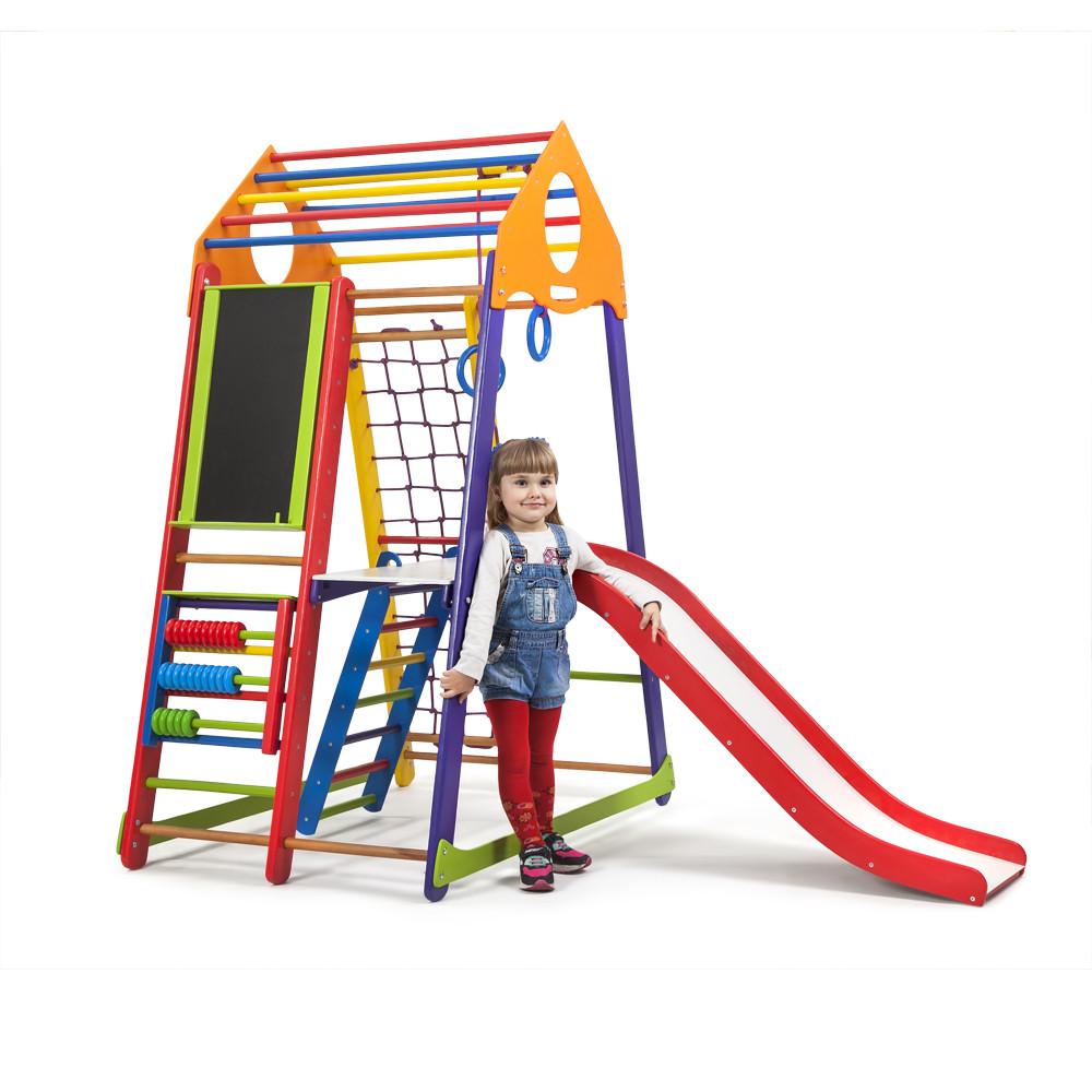 SportBaby Детский спортивный комплекс BambinoWood Color Plus 3