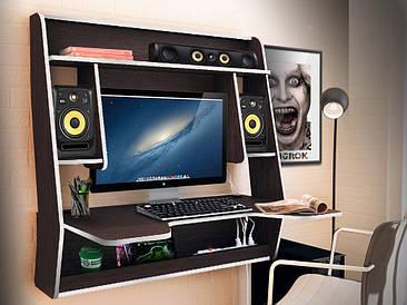 Геймерский навесной стол  ZEUS IGROK-MAX, венге/белый