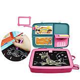 Дитячий навчальний набір для малювання Backpack packing 3in1   Рюкзак для творчості з магнітною дошкою рожевий, фото 4