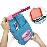 Детский обучающий набор для рисования Backpack packing 3in1   Рюкзак для творчества с магнитной доской розовый, фото 5
