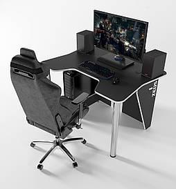 Геймерский игровой стол ZEUS IGROK-3 Черный/Белый