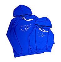 Школьное синее платье стефания для девочек с белым фатиновым краем 110-116 см Tiny look