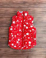 Детская красная жилетка для девочки 98-122 см