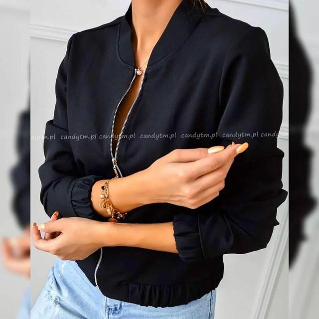 Жіноча демісезонна замшева куртка-бомбер