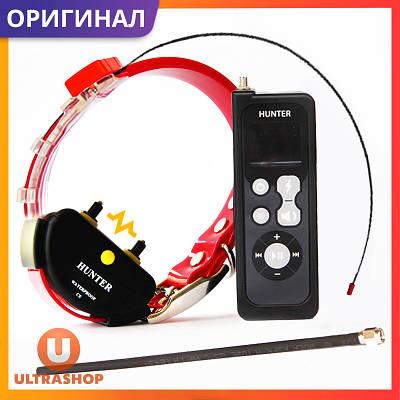Нашийник GPS-трекер без СІМ карти для мисливських собак з режимом дресирування HUNTER-25000 Pro (GT25) Original