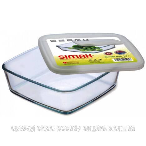 Харчової контейнер Simax Color 7486 квадратний 15 х 15 х 4.5 см з пластиковою кришкою