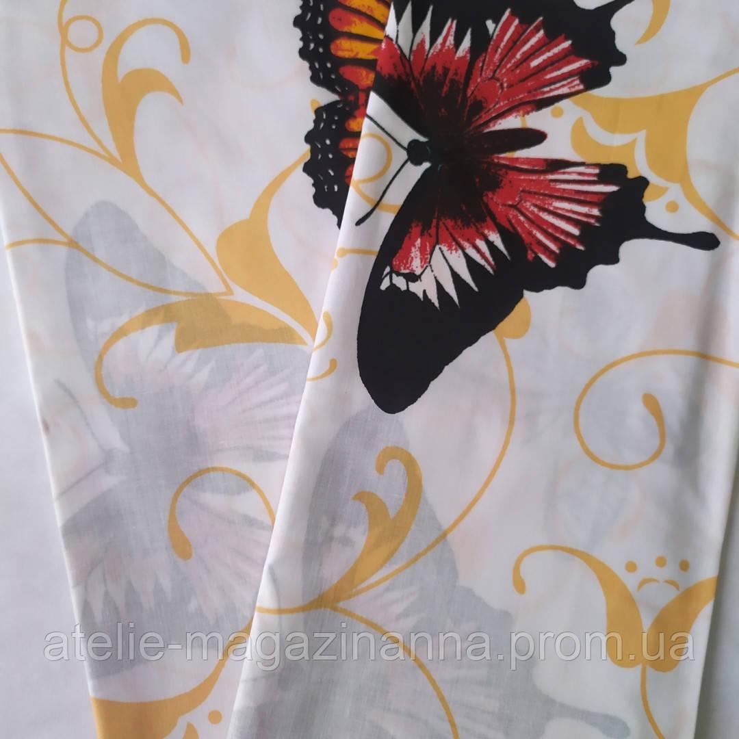 Наволочка на подушку из бязи 50*70 белая с бабочками