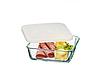 Пищевой контейнер Simax Color 7486 квадратный 15 х 15 х 4.5 cм с пластиковой крышкой, фото 6