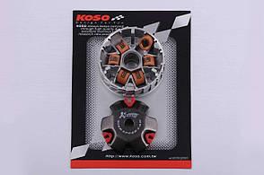 Вариатор передний тюнинг на скутер Honda DIO AF18 медно-граф. втулка, ролики латунь