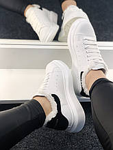 McQueen White/Black (белые/черные) fur (мех)