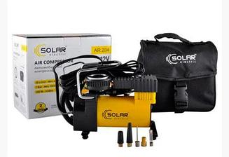 Компрессор автомобильный SOLAR 35л/мин 7 Атм Кабель 3м Шланг 1м + Сумка в комплекте