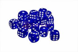 Кубик игральный синий. В упаковке 100 шт. №14