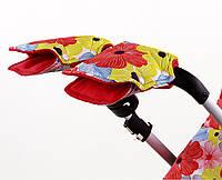 Муфта с цветочным узором для рук на коляску и санки цветы Goforkid