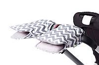 Муфта для коляски рассвет lc (серо-белый зиг заг) Goforkid